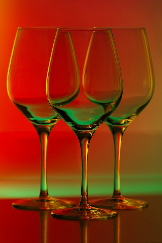 Colored Wine Glasses By Terry Seidler Redbubble