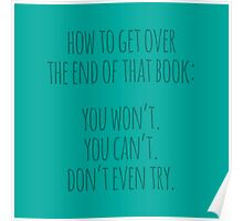 How To Get Over The End... Poster