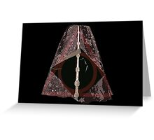 Deathly Hallows Harry Potter illuminati Greeting Card