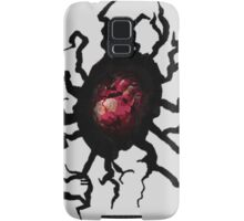 Red Heart in Cracked Hole Samsung Galaxy Case/Skin
