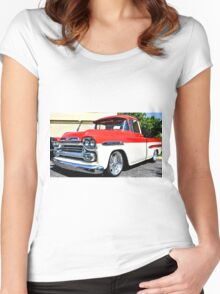 Chevy Apache Hot Rod Custom Truck Women's Fitted Scoop T-Shirt