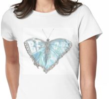 "Spread Your Wings (""Be OK"" Butterfly) Womens Fitted T-Shirt"