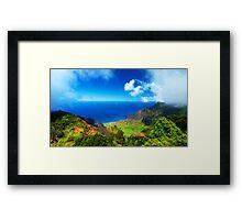 Koke'e Panoramic Framed Print