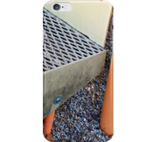 Childrens orange and grey steps iPhone Case/Skin