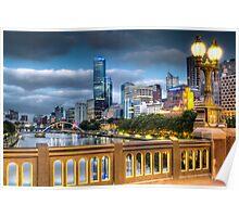 St. Kilda Rd Bridge - Melbourne Poster