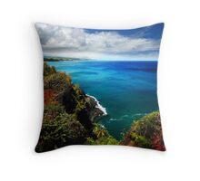 North Shore Seascape Throw Pillow