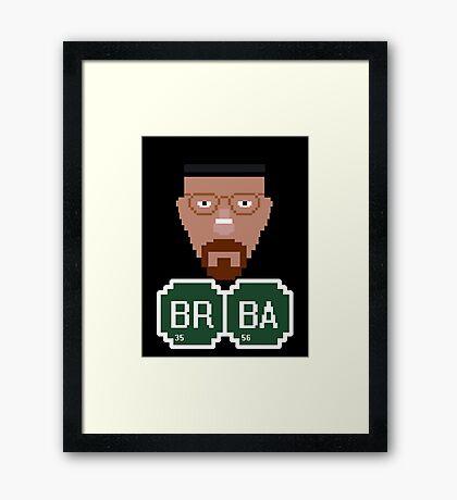 Pixelated Heisenberg Framed Print