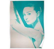 Monochromatic Starlet - Audrey Hepburn Poster