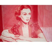 Monochromatic Starlet - Vivien Leigh Photographic Print