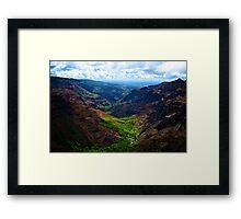 Waimea Canyon Ocean Vista Framed Print