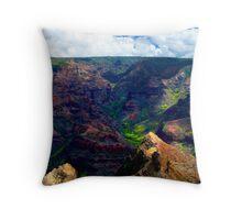 Waimea Canyon Panoramic Throw Pillow