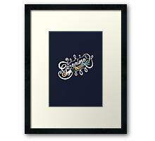 Doctor Who Geronimo! Framed Print