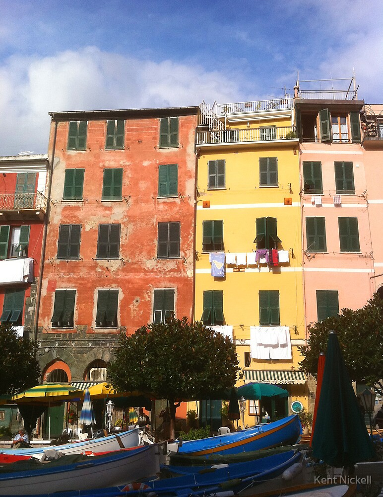 Colors of Vernazza by Kent Nickell