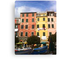Colors of Vernazza Canvas Print