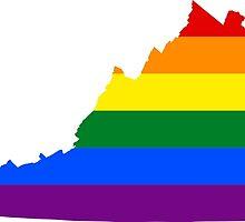 LGBT Flag Map of Virginia  by abbeyz71