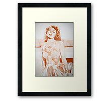 Monochromatic Starlet - Rita Hayworth Framed Print