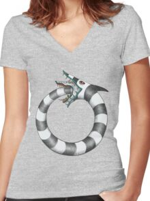 Sandworm Ouroboros Women's Fitted V-Neck T-Shirt