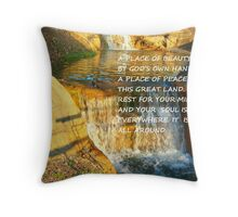 FINDING A PEACEFUL PLACE Throw Pillow
