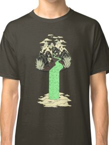 Levitating Island with a Source coming from nowhere Classic T-Shirt