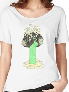 Levitating Island with a Source coming from nowhere Women's Relaxed Fit T-Shirt