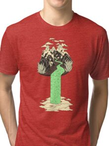 Levitating Island with a Source coming from nowhere Tri-blend T-Shirt