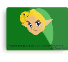 Undercover Kakuna (Ocarina of Time Corruptions) Metal Print