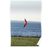 Kite Flying - Harkness State Park, Connecticut Poster