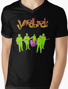 The Yardbirds T-Shirt Psychedelic Rock Mens V-Neck T-Shirt
