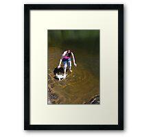 """ Sink or swim Jerry "" Framed Print"