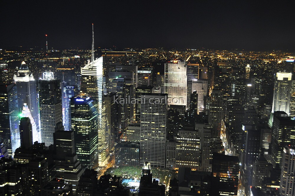 NYC shot in RAW from Empire States Building by kailani carlson