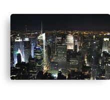 NYC shot in RAW from Empire States Building Canvas Print