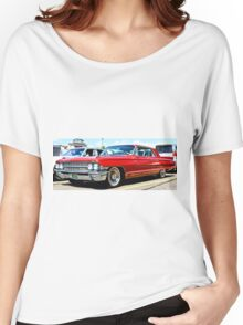 Red Classic Cadillac Women's Relaxed Fit T-Shirt