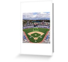Los Angeles Home of Baseball Fever Greeting Card