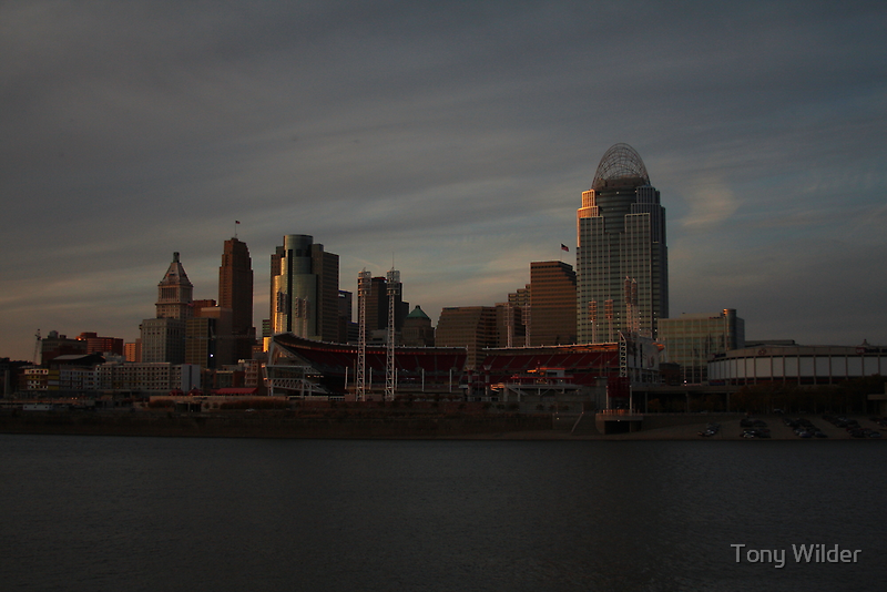 Cincinnati Skyline at Dusk by Tony Wilder