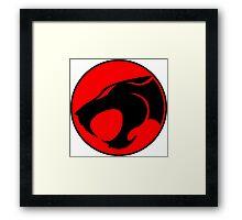 Thundercats 1985 Cat Symbol on Sword Shirt Framed Print