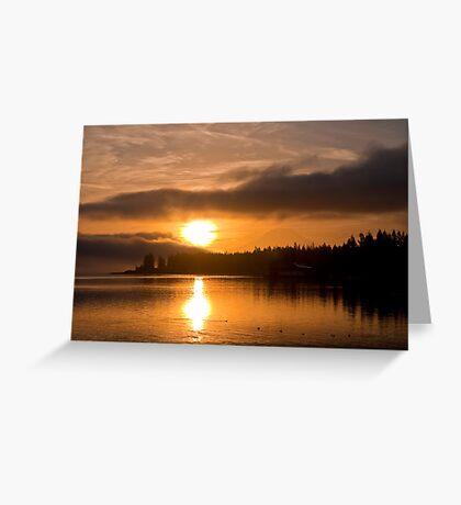 Puget Sound Sunrise Greeting Card