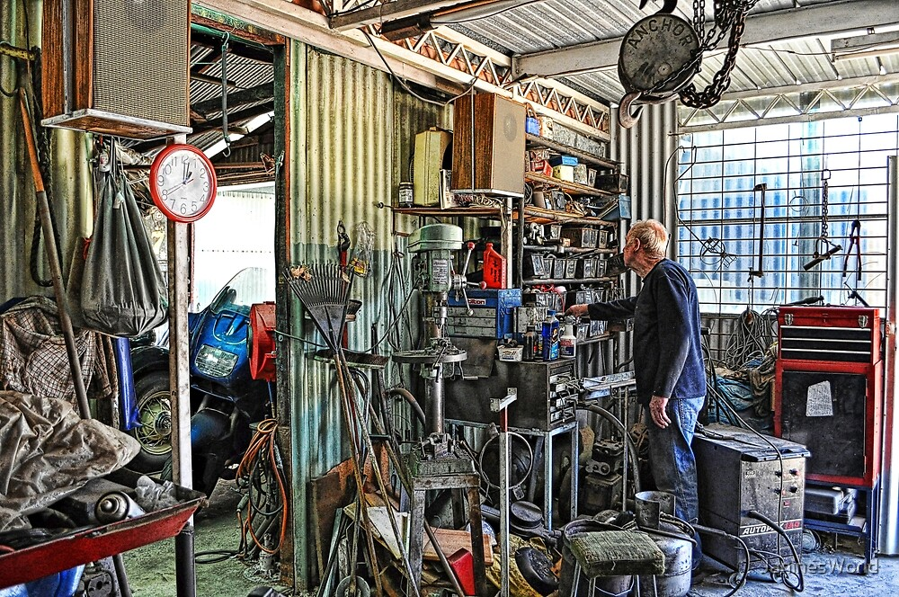 A Man's Shed Is His Home! by JaninesWorld