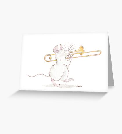A Mouse and His Trombone Greeting Card