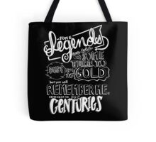 """""""Centuries"""" By Fall Out Boy Lyric Drawing Tote Bag"""