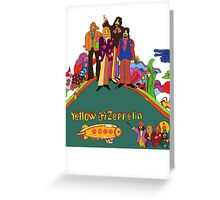 Yellow Zeppelin Submarine T-Shirt Greeting Card