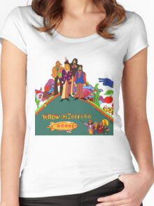 Yellow Zeppelin Submarine T-Shirt Women's Fitted Scoop T-Shirt