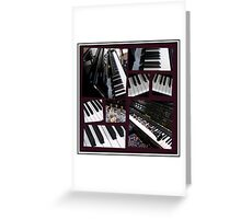 Black Beauty - Piano and Clarinet Collage Greeting Card