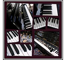 Black Beauty - Piano and Clarinet Collage Photographic Print