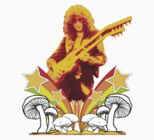Jimmy Page Led Zeppelin T-Shirt by greenrasta