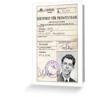Privatflygcertifikat Greeting Card