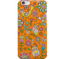 Owls Birds Butterfly&Flower iPhone Case/Skin