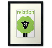 Relation (Shaun The) Sheep Framed Print