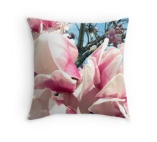 Pink Petalscape Throw Pillow