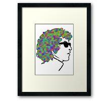 Psychedelic Bob Dylan T-Shirt Framed Print