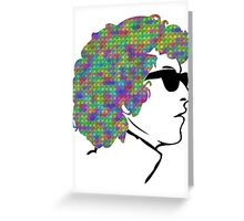 Psychedelic Bob Dylan T-Shirt Greeting Card